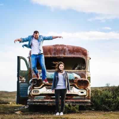 Pancha + Jorge en la pampa Patagonica